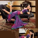 Faux Crepe Casual Designer Embroidered  Sarees Sari With Blouse - X 129A N