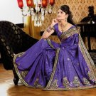 Faux Crepe Casual Designer Embroidered  Sarees Sari With Blouse - X 121B N