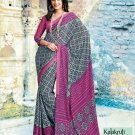 Crepe Partywear Casual Printed Saris Saree With Blouse - VF 4713A N