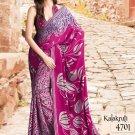 Crepe Partywear Casual Printed Saris Saree With Blouse - VF 4701B N