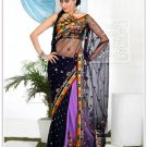 Wedding Net Designer Embroidery Sari Saree With Blouse - TS 27007 N