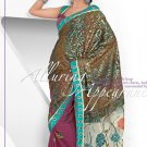 Wedding Net Brasso Designer Embroidery Sarees Sari With Blouse - TS 26002 N