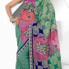Wedding Net Georgette Designer Embroidery Sarees Sari With Blouse - TS 26015 N