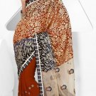 Wedding Net Georgette Designer Embroidery Sarees Sari With Blouse - TS 26011 N