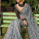 Sari Saree Casual Faux Georgette Printed With Unstitch Blouse - X 9010B N