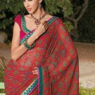 Sari Saree Casual Faux Georgette Printed With Unstitch Blouse - X 9015A N