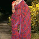 Sari Saree Casual Faux Georgette Printed With Unstitch Blouse - X 9006B N