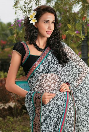 Sari Saree Casual Faux Georgette Printed With Unstitch Blouse - X 9010A N