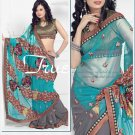Net Brasso Georgette Wedding Embroidered Sarees Sari With Blouse - TS 21003B