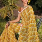 Sari Saree Casual Faux Georgette Printed With Unstitch Blouse - X 9002B N
