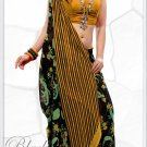 Indian Bollywood Faux Georgette Printed Sari With Unstitch Blouse - X 2202A N