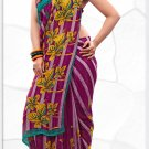 Indian Bollywood Faux Georgette Printed Sari With Unstitch Blouse - X 2204B N