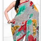 Indian Bollywood Faux Georgette Printed Sari With Unstitch Blouse - X 2174B N