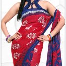 Indian Bollywood Faux Georgette Printed Sari With Unstitch Blouse - X 2200B N