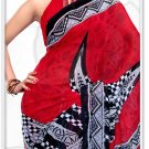 Indian Bollywood Faux Georgette Printed Sari With Unstitch Blouse - X 2175B N