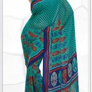 Indian Bollywood Faux Georgette Printed Sari With Unstitch Blouse - X 2191A N