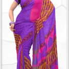 Indian Bollywood Faux Georgette Printed Sari With Unstitch Blouse - X 2190A N