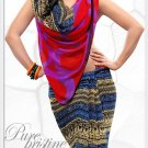 Indian Bollywood Faux Georgette Printed Sari With Unstitch Blouse - X 2203B N