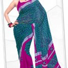Indian Bollywood Faux Georgette Printed Sari With Unstitch Blouse - X 2189B N