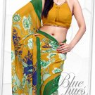 Indian Bollywood Faux Georgette Printed Sari With Unstitch Blouse - X 2192A N