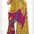 Indian Bollywood Faux Georgette Printed Sari With Unstitch Blouse - X 2169A N