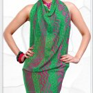 Indian Bollywood Faux Georgette Printed Sari With Unstitch Blouse - X 2180B N
