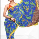 Indian Bollywood Faux Georgette Printed Sari With Unstitch Blouse - X 2202B N