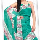 Indian Bollywood Faux Georgette Printed Sari With Unstitch Blouse - X 2179B N