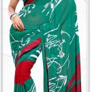 Indian Bollywood Faux Georgette Printed Sari With Unstitch Blouse - X 2173B N