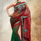 Net Partywear Bridal Designer Embroidery Saree With Blouse -X 7357c N