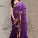 Faux Georgette Partywear Bridal Designer Embroidery Saree With Blouse -X 7318c N