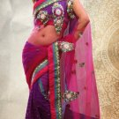Net Partywear Bridal Designer Embroidery Saree With Blouse -X 7357b N