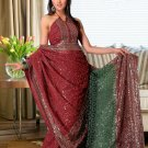 Partywear Faux Georgette Heavy Embroidered Saree With Blouse - Ls Purva A N