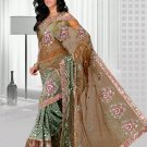 Partywear Georgette Net Heavy Embroidered Saree With Blouse - Ls Pushpanjali B N