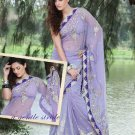 Saree Bridal Net Georgeous Embroidery With Unstitched Blouse - X 1103 N