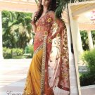Saree Bridal Net Georgeous Embroidery With Unstitched Blouse - X 1107 N