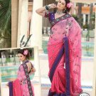 Saree Bridal Chiffon Georgeous Embroidery With Unstitched Blouse - X 1113 N