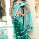 Saree Bridal Bemberg Net Georgeous Embroidery With Unstitched Blouse - X 1102 N