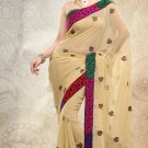 Partywear Faux Georgette Designer Embroiderey Sarees Sari With Blouse - X 978A N