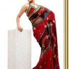 Partywear Net Georgette Designer Embroiderey Sarees Sari With Blouse - X 952C N