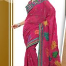 Partywear Faux Georgette Designer Embroiderey Sarees Sari With Blouse- X 1006B N
