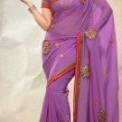 Partywear Faux Georgette Designer Embroiderey Sarees Sari With Blouse - X 962C N