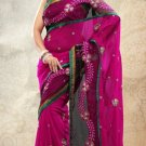 Partywear Net Georgette Designer Embroiderey Sarees Sari With Blouse - X 952B N