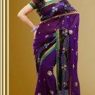 Partywear Net Georgette Designer Embroiderey Sarees Sari With Blouse - X 952D N