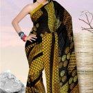 Casual Partywear Georgette Sattin Patti Printed Designer Saree - Ts 29012b N