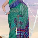 Casual Partywear Faux Georgette Printed Designer Saree - Ts 29003a N