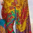 Casual Partywear Georgette Sattin Patti Printed Designer Saree - Ts 29004b N