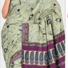Silk Casual Partywear Designer Printed Sarees Sari With Blouse - X 4854A N