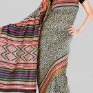 Silk Casual Partywear Designer Printed Sarees Sari With Blouse - X 4541A N