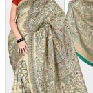 Silk Casual Partywear Designer Printed Sarees Sari With Blouse - X 4822A N